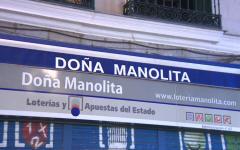 Doña Manolita, emblemática administración para comprar Lotería de Navidad.