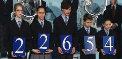 Los niños de San Ildefonso, con el primer premio de la Lotería del Niño 2016.