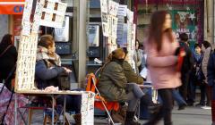 Un grupo de vendedoras de Lotería de Navidad.