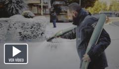 Imagen del rodaje del anuncio de la lotería.